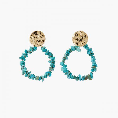 Boucles d'oreilles pierres turquoise Blue mood