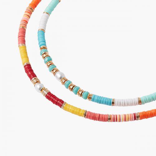 Set de colliers sequins multicolore Colorfull : Balaboosté bijoux fantaisie et accessoires tendance.