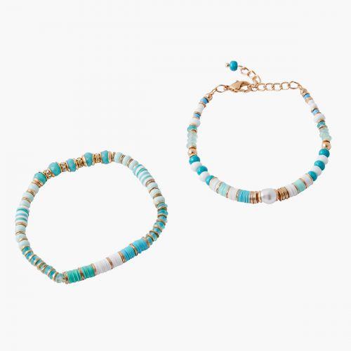 Set de bracelets bleu Blue mood