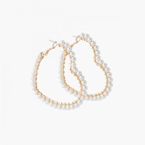 Boucles d'oreilles coeurs à perles Collab Meryl