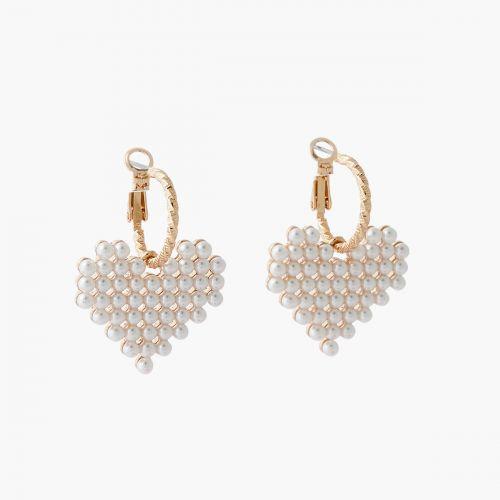 Petites créoles perles d'imitation Collab Meryl
