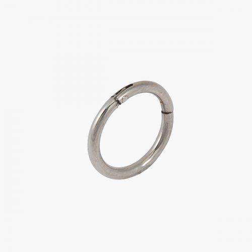 Piercing anneau argenté 8mm Trendy Touch
