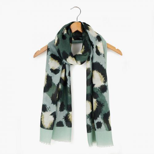 Foulard léopard vert