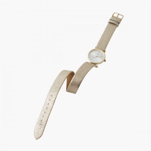 Montre double bracelet doré
