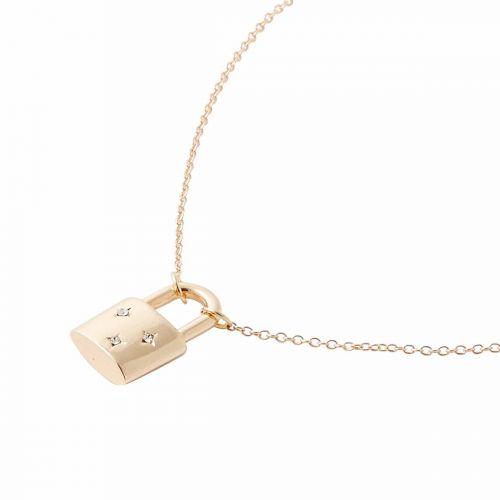 Collier cadenas doré coeur/strass Mother's day
