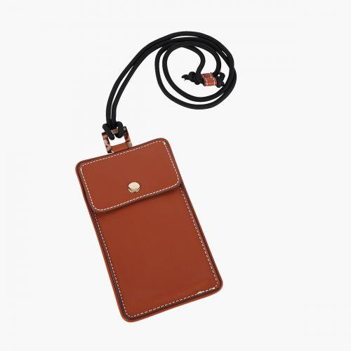 Pochette marron smartphone