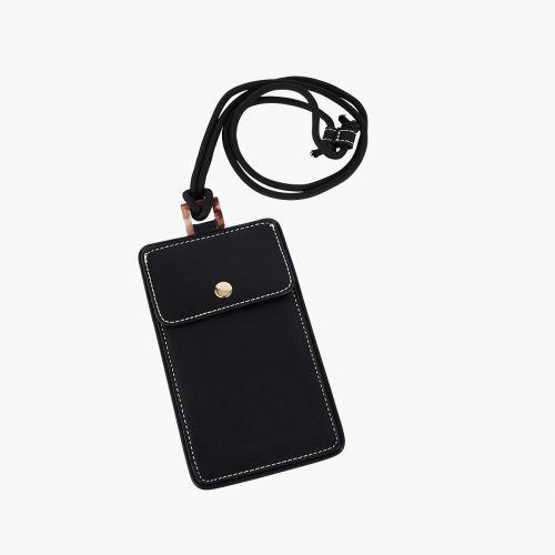 Pochette noire smartphone