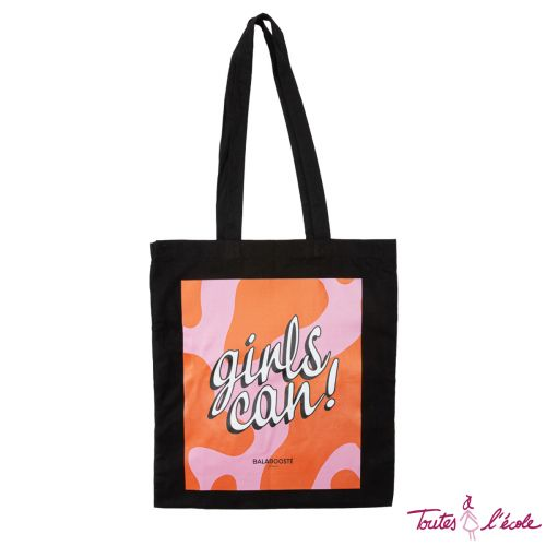 Tote bag Girls Can