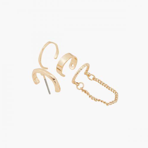 Set de bijoux d'oreilles doré Classy novelty