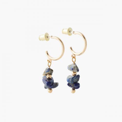 Créoles bleues Lucky stone
