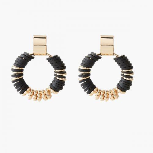 Boucles d'oreilles pendantes noires Nomad dreams