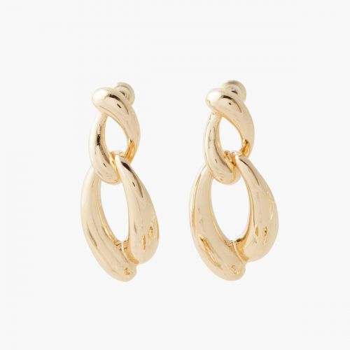 Boucles d'oreilles pendantes dorées Pastel