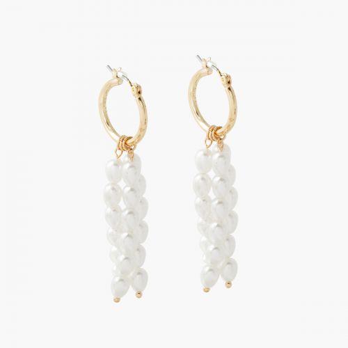 Créoles pendants perles d'imitation New pearl