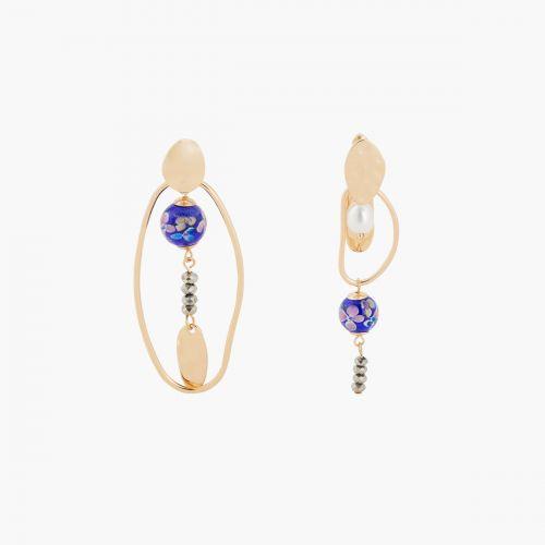 Boucles d'oreilles pendantes multicolores Mineral mix