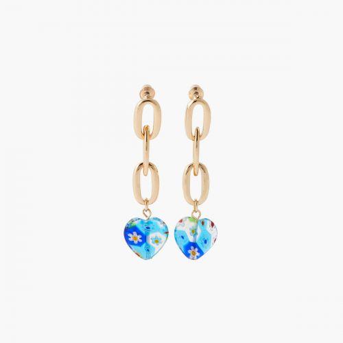 Boucles d'oreilles coeurs multicolores Mineral mix