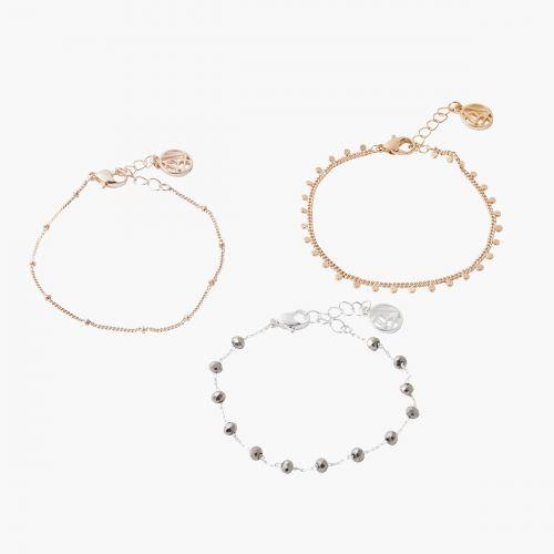 Set de bracelets doré/argenté Silver touch