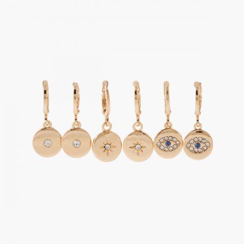 Set de créoles doré Silver touch
