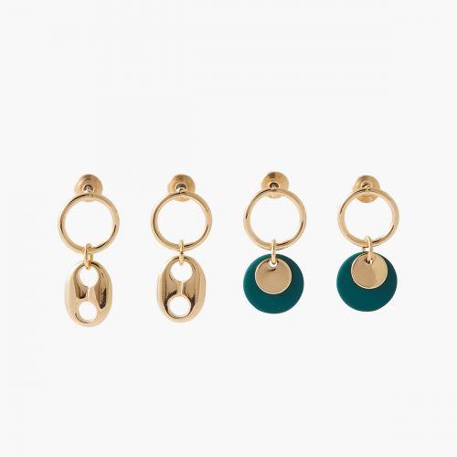 Set de boucles d'oreilles pendantes Paris with love