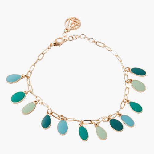 Bracelet pampilles vertes Green