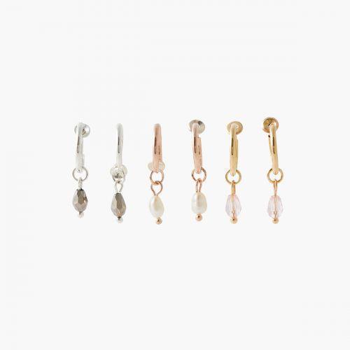 Set de mini-créoles multicolore Bar à clips