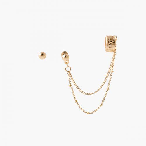 Set de bijoux d'oreilles doré Nomad dreams
