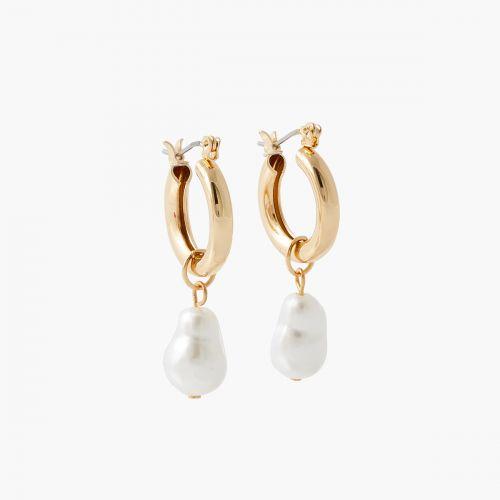 Créoles épaisses avec perles d'imitation New pearl