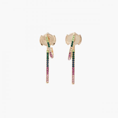 Boucles d'oreilles strass multicolores Statment