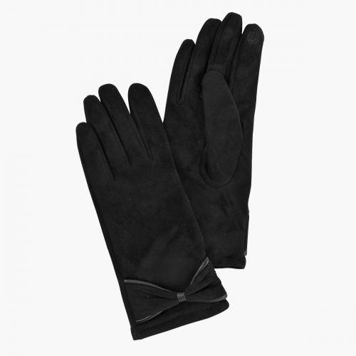 Gants noirs à noeud