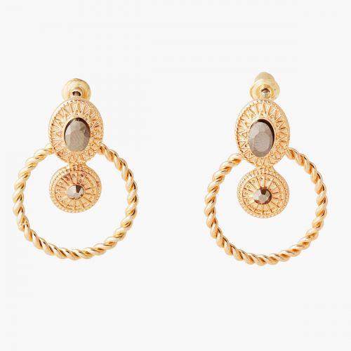 Boucles d'oreilles pendantes dorées Nomad dreams