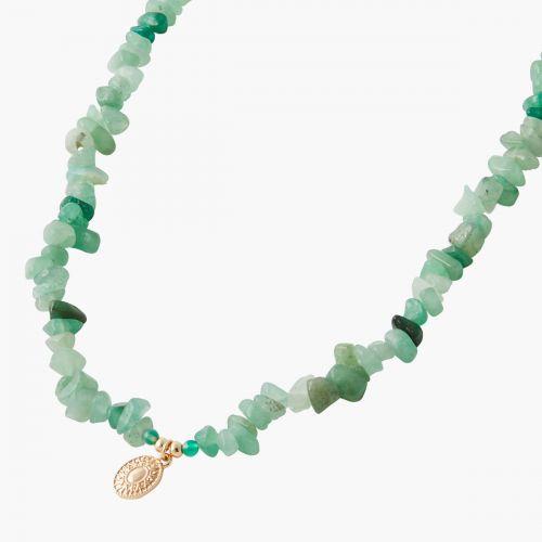 Collier pierres vertes Nomad dreams
