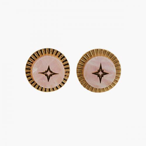 Boucles d'oreilles pendantes roses steel Power