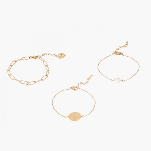 Set de bracelets doré Acier Inoxydable