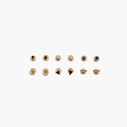 Set de boucles d'oreilles doré Manhattan