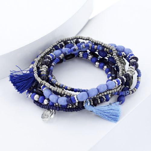 Set de bracelets bleus City Blue