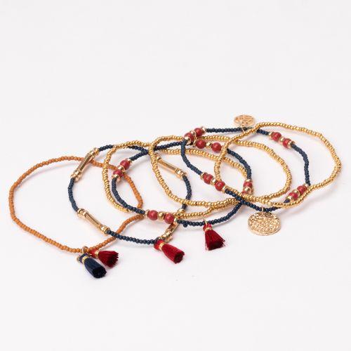 Set de bracelets dorés
