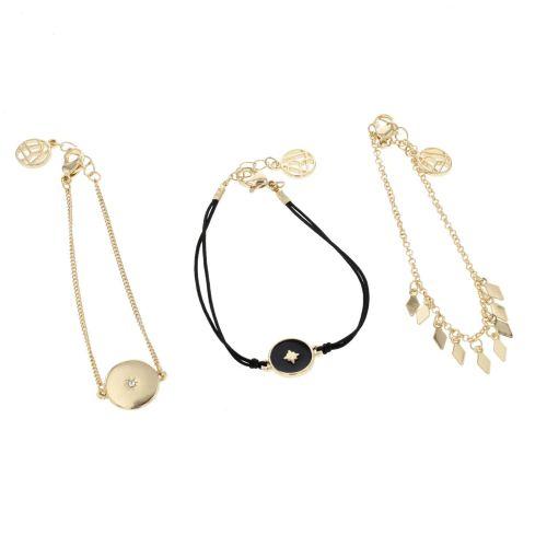 Set de bracelets fins doré Celestial