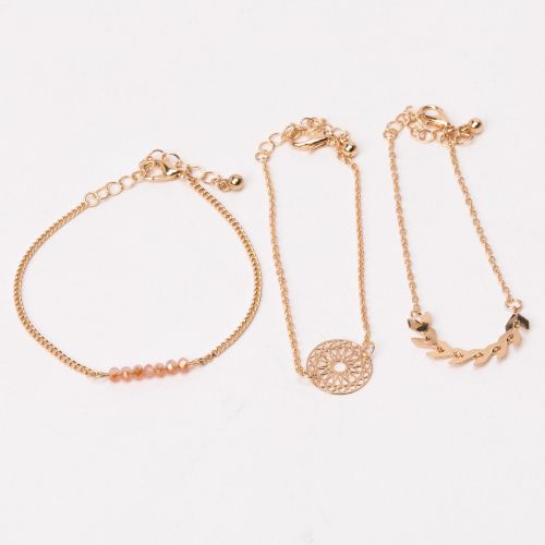 Set de bracelets fins doré City Blush