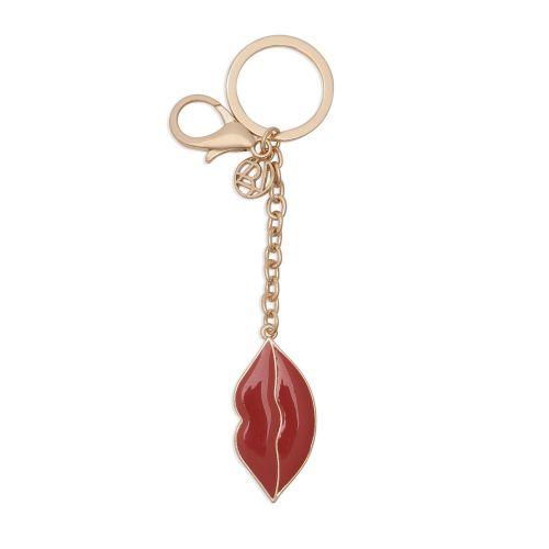 Porte-clés bisou rouge