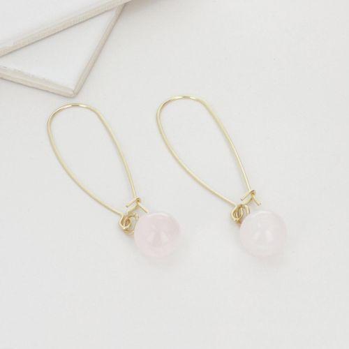 Boucles d'oreilles pendantes dorées City Blush