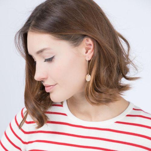 Boucles d'oreilles pendantes dorées Gold touch
