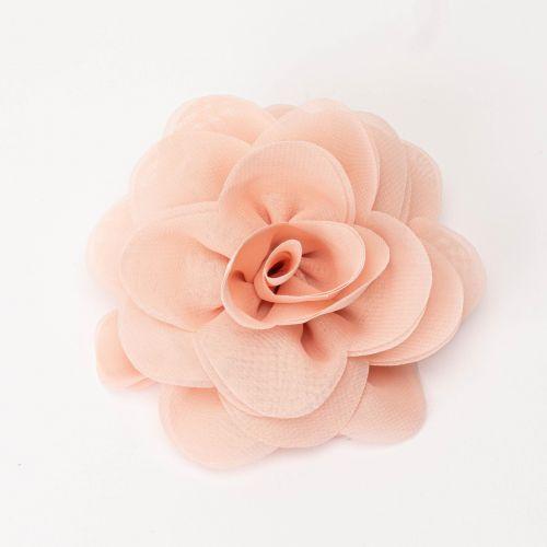 Broche fleur rose