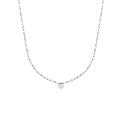 Collier Argent Garanti Diamant Precious Diamond