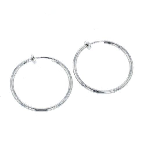 Clips d'oreilles argentés Bar à clips