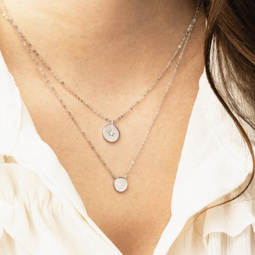 Sautoir Argent Garanti Diamant Precious Diamond