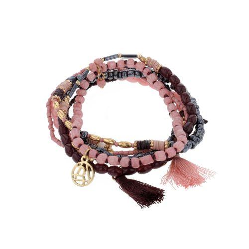 Set de bracelets élastiques rose City Blush