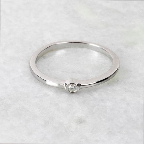 Bague Argent Garanti Diamant Precious Diamond