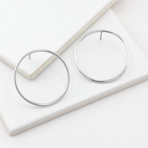Boucles d'oreilles pendantes argentées Bar à créoles